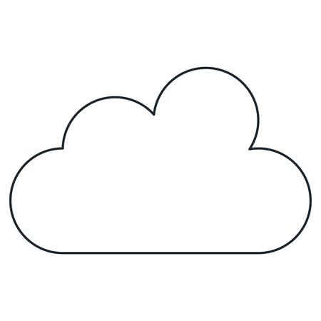 雲のシルエットは、アイコン ベクトル イラスト デザインを分離しました。  イラスト・ベクター素材