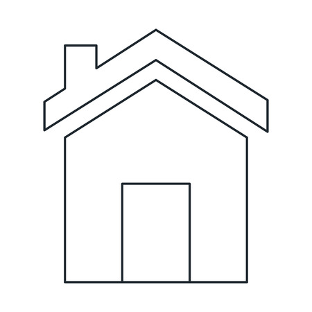 Exterior house isolated icon vector illustration design. Ilustração