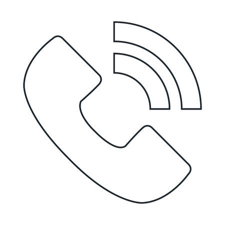 A telephone service isolated icon vector illustration design.