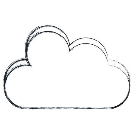shiny buttons: cloud silhouette isolated icon vector illustration design Illustration