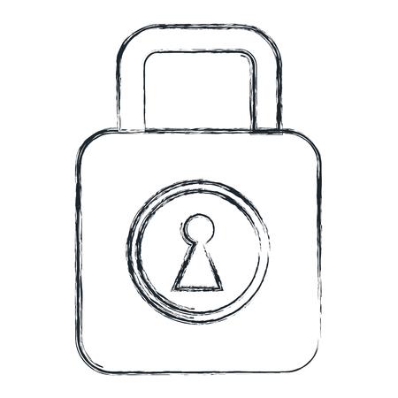 safe secure padlock icon vector illustration design Фото со стока - 82026686
