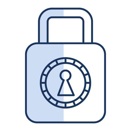 Safe secure padlock icon Фото со стока - 82090720
