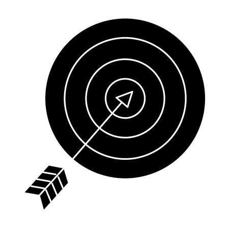 A target with arrow icon vector illustration design.