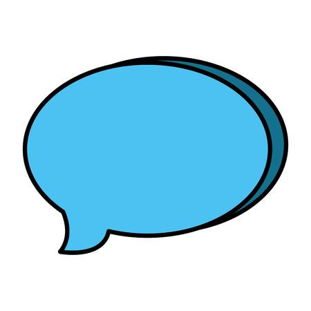 speech bubble message icon vector illustration design Ilustracja
