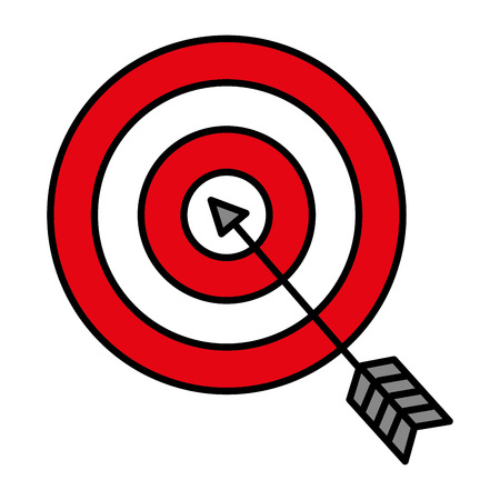 target with arrow icon vector illustration design Stock Vector - 82032033
