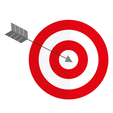 Target with arrow icon Ilustrace