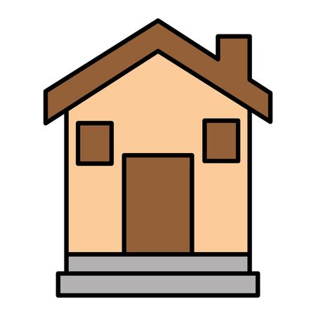 외관 집 고립 된 아이콘 일러스트