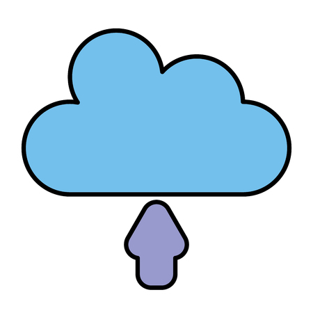 cloud silhouette isolated icon vector illustration design Stock Photo