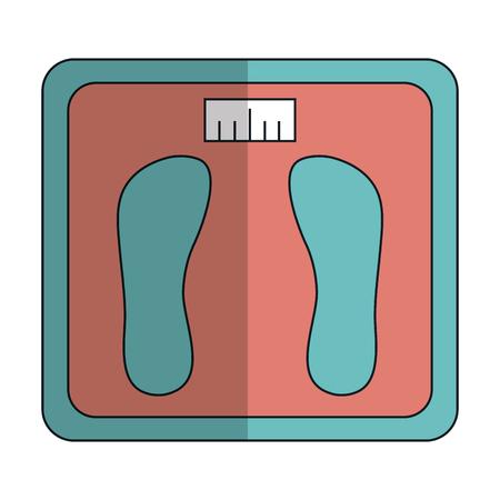 Evenwicht badkamer geïsoleerde pictogram vector illustratie ontwerp Stock Illustratie