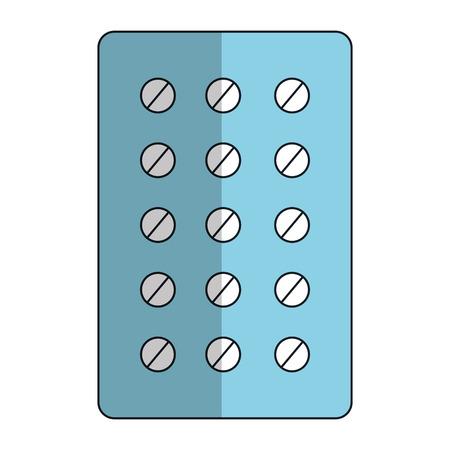 pills Planning medications icon vector illustration design Ilustração