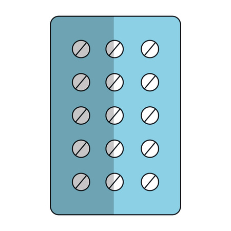 pills Planning medications icon vector illustration design Ilustracja