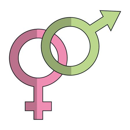 marital: male and female symbol vector illustration design Illustration