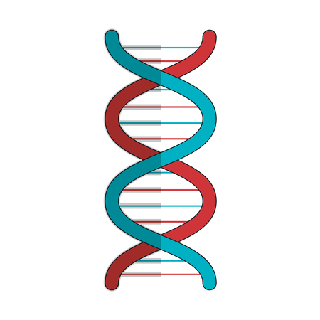 DNA-Molekül isoliert Symbol Vektor-Illustration, Design, Standard-Bild - 82035803