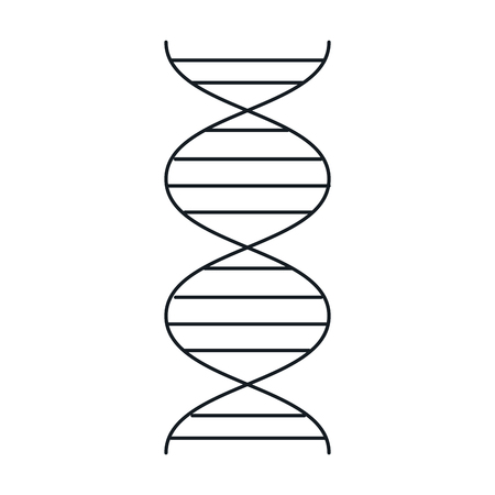 DNA-Molekül isoliert Symbol Vektor-Illustration, Design, Standard-Bild - 82035805