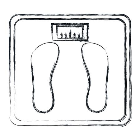 バランス バスルーム分離アイコン ベクトル イラスト デザイン  イラスト・ベクター素材