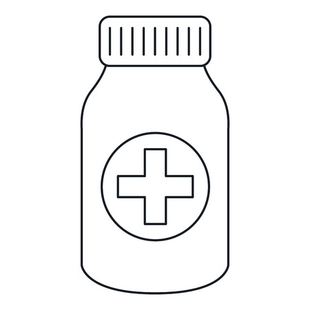 A bottle drugs isolated icon vector illustration design. Фото со стока - 82028035