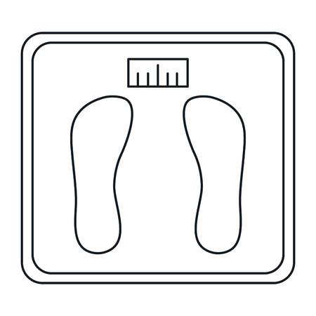 A balance bathroom isolated icon vector illustration design.