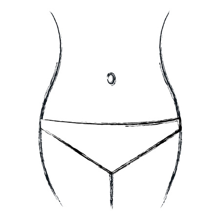 女性の腰の図のアイコン ベクトル イラスト デザイン。
