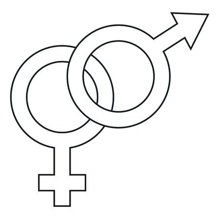 heterosexuality: A male and female symbol vector illustration design. Illustration