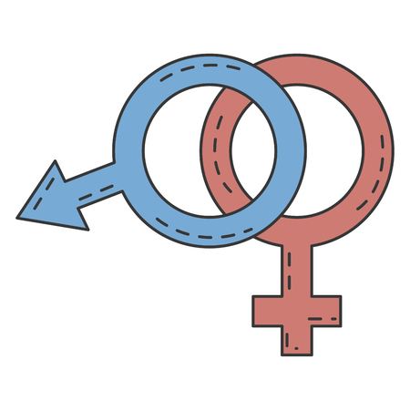 male and female symbol vector illustration design Illusztráció