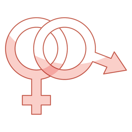 male and female symbol vector illustration design Illustration