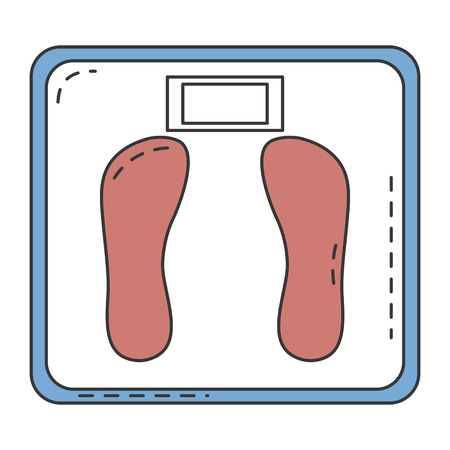 Balance bathroom scale isolated icon vector illustration design