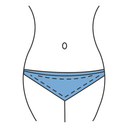 Vrouwelijk vector de illustratieontwerp van het taillecijfer pictogram.