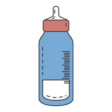 哺乳瓶分離アイコン ベクトル イラスト デザイン