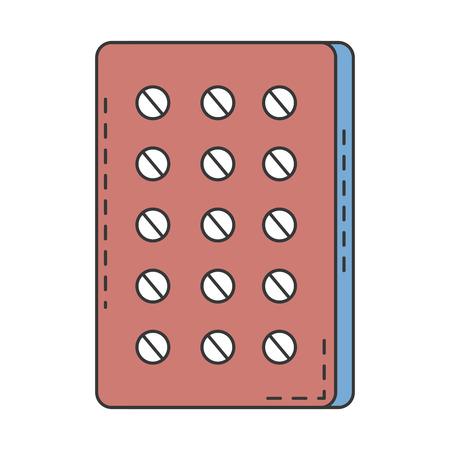 Pillen Planning medicatie pictogram vector illustratie ontwerp