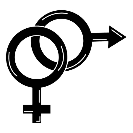 heterosexual: male and female symbol vector illustration design Illustration