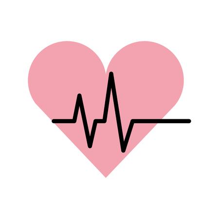 心分離した心臓のアイコン ベクトル イラスト デザイン