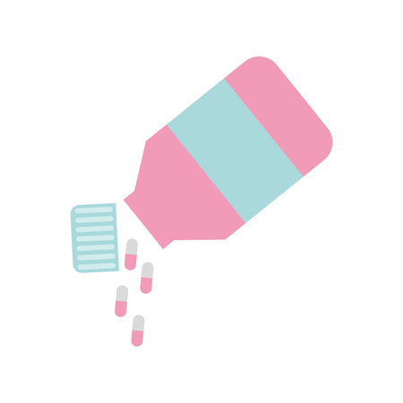 Bottle drugs isolated icon vector illustration design Фото со стока - 82029539