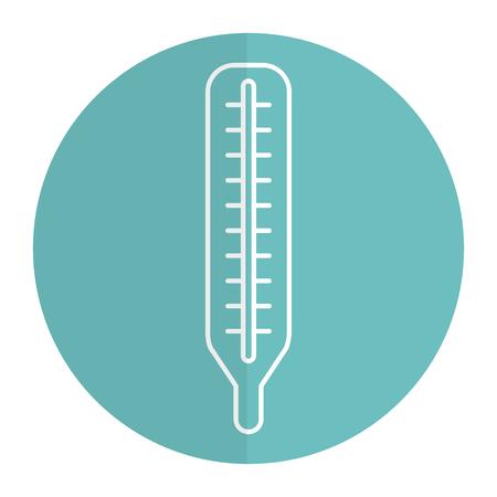 Thermometer medisch geïsoleerd pictogram vector illustratie ontwerp Stock Illustratie