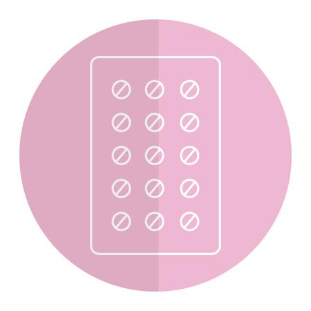 pills Planning medications icon vector illustration design Illustration