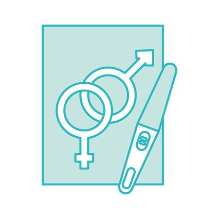 paper with male and female symbol vector illustration design