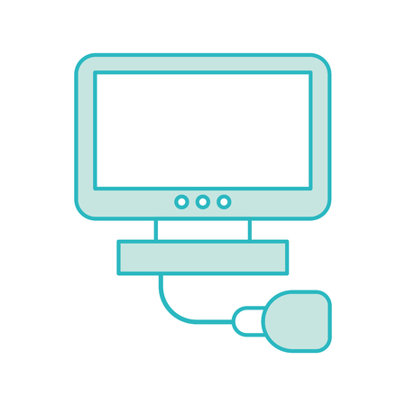 Ultrasound monitor isolated icon vector illustration design Ilustracja