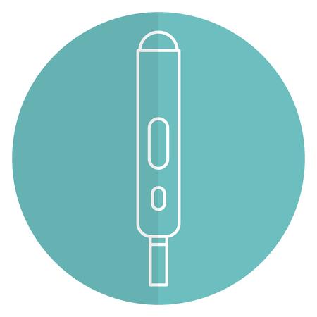pregnancy test isolated icon vector illustration design Illustration