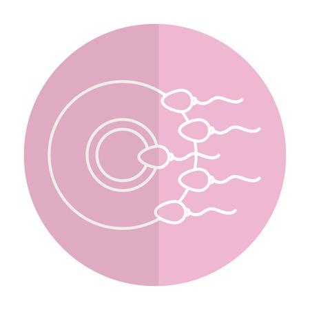 精子のベクトル イラスト デザインによって卵子の受精  イラスト・ベクター素材