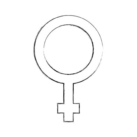 Vrouwelijk symbool geïsoleerd pictogram vector illustratie ontwerp Stock Illustratie