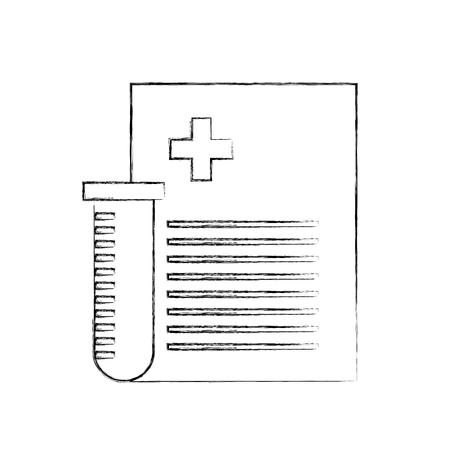 buis test met medisch bestel document icoon vector illustratie ontwerp