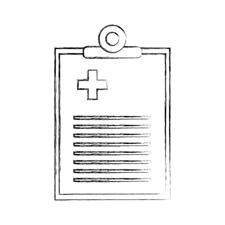 medisch bestel document icoon vector illustratie ontwerp