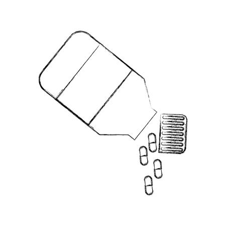 bottle drugs isolated icon vector illustration design Фото со стока - 82029374