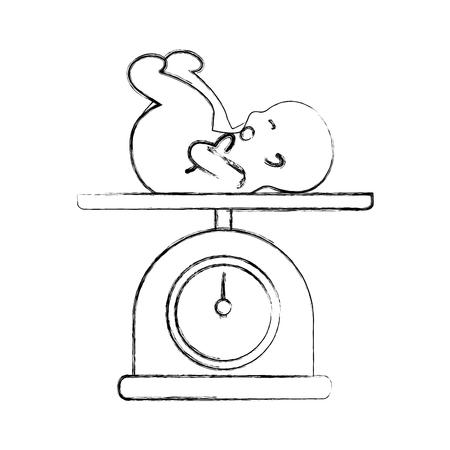 아기 격리 된 아이콘 벡터 일러스트 레이 션 디자인 규모 스톡 콘텐츠 - 82029376