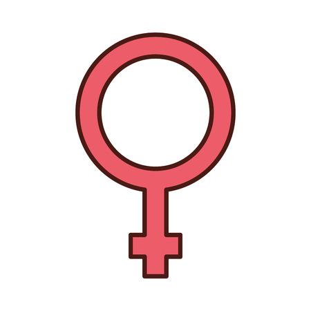 female symbol isolated icon vector illustration design