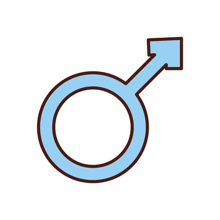 male symbol isolated icon vector illustration design Illustration