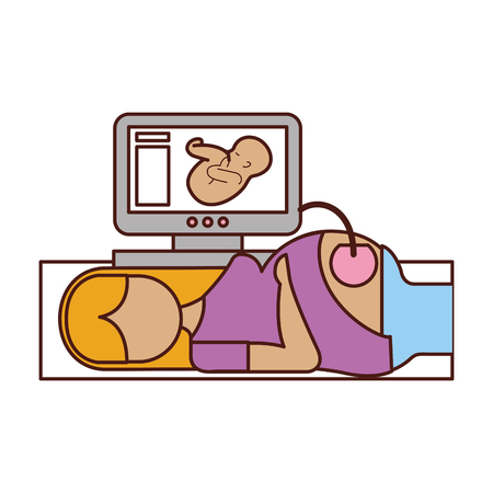 Ultrasound monitor isolated icon vector illustration design Stock fotó - 82029418