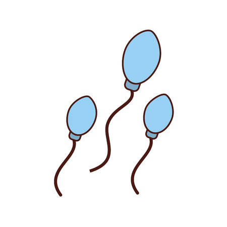 Fertilization by the spermatozoon vector illustration design