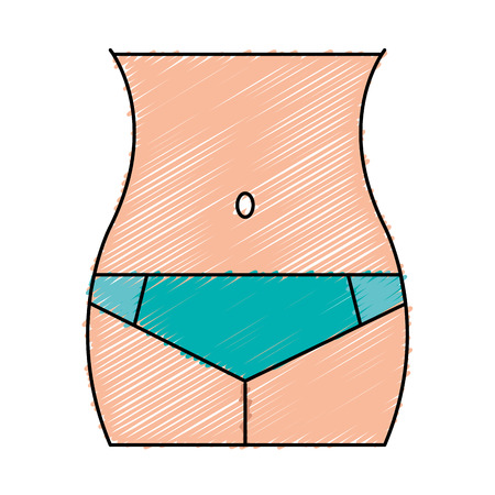 Female waist figure icon vector illustration design Ilustracja