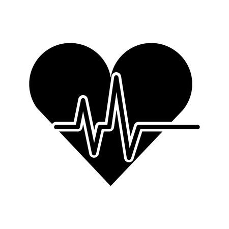 heart monitor: heart cardio isolated icon vector illustration design