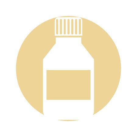 ボトル薬分離アイコン ベクトル イラスト デザイン  イラスト・ベクター素材